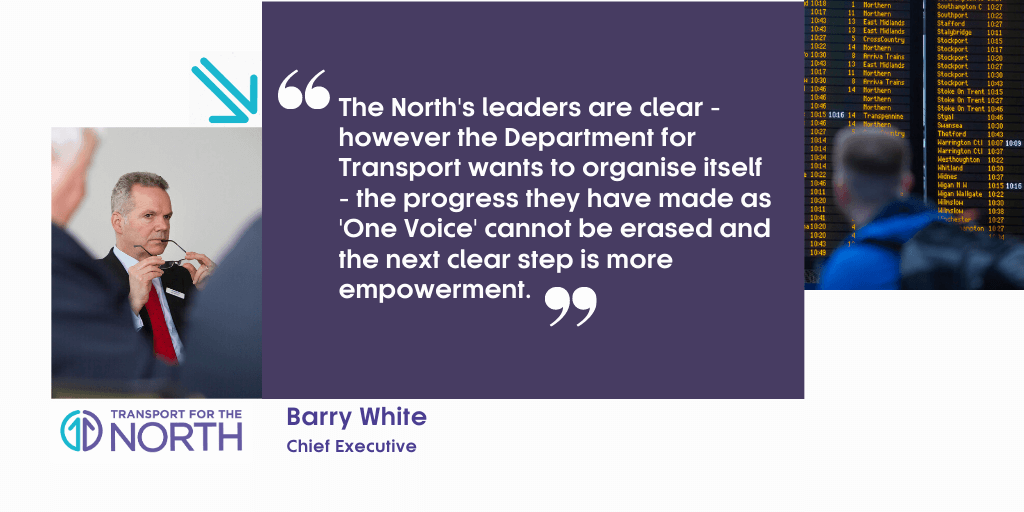 Comment from Transport for the North Chief Executive Barry White.
