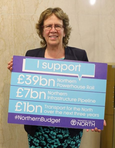Cllr Judith Blake supports #NorthernBudget