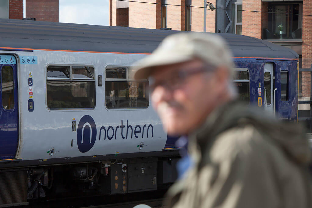 Leeds - man & Northern train (1)