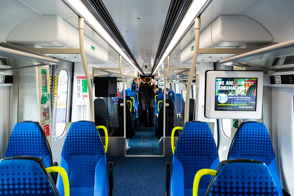 Interior of new Northern trains