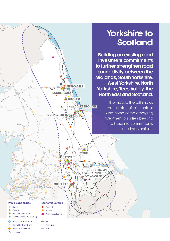 Yorkshire to Scotland | Strategic Development Corridor - Transport ...
