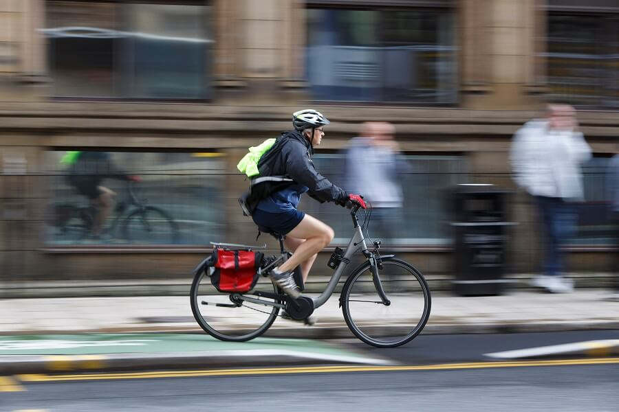cyclist in Leeds